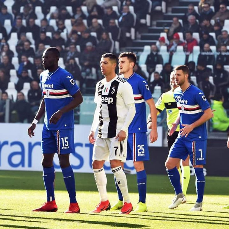 Colley's Worn Shirt, Juventus-Sampdoria 2018