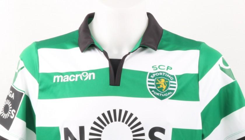 Schelotto Match Worn Shirt, Estoril-Sporting CP 25/02/2017 - Signed