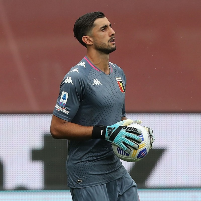 Perin's Genoa Signed Match Shirt, 2020/21