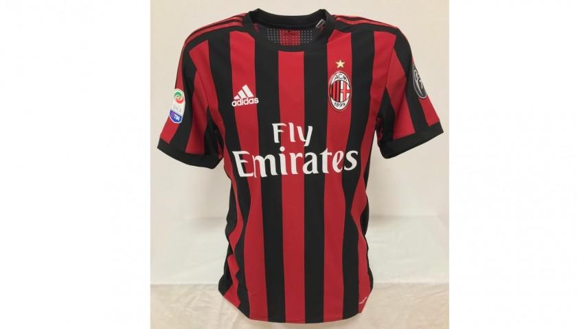 Suso's Milan Match Signed Shirt, 2017/2018