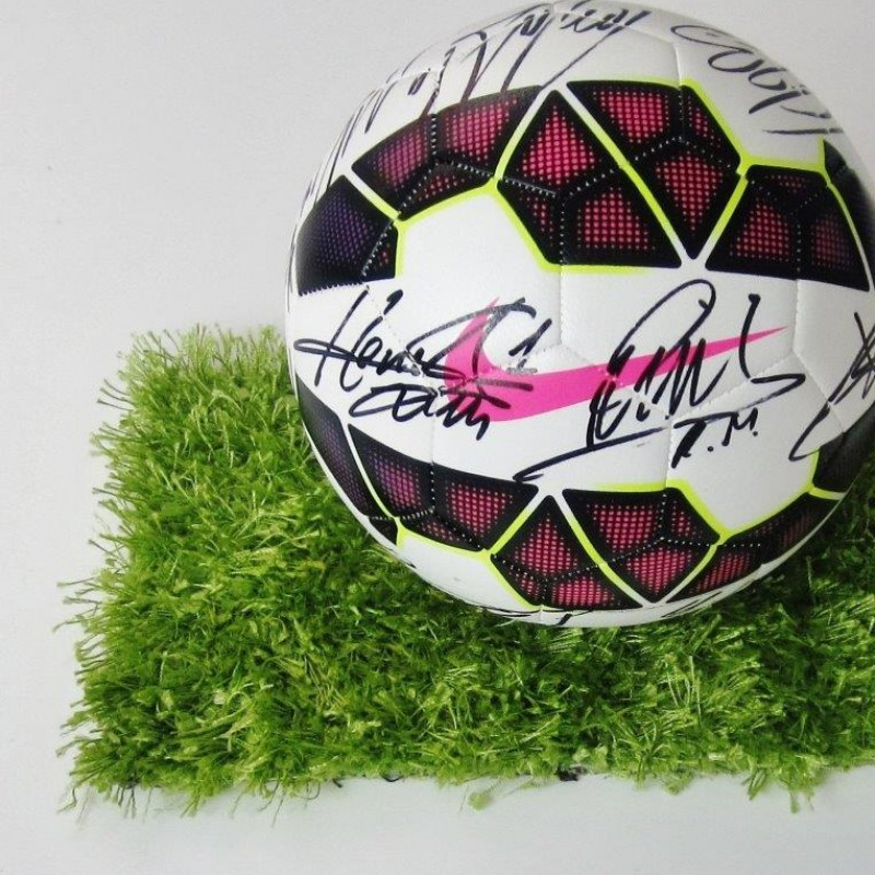 Serie A match ball signed by Inter players, 2014/2015 season