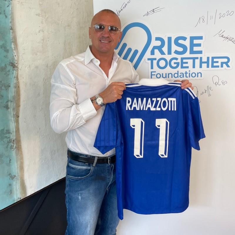 """Ramazzotti's """"Nazionale Cantanti"""" Worn Shirt, 1990s"""