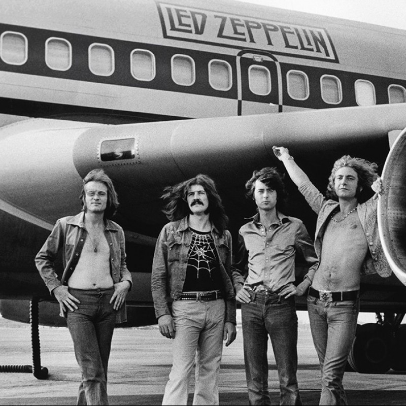 Signed Photograph Print of Led Zeppelin by Bob Gruen, 1973