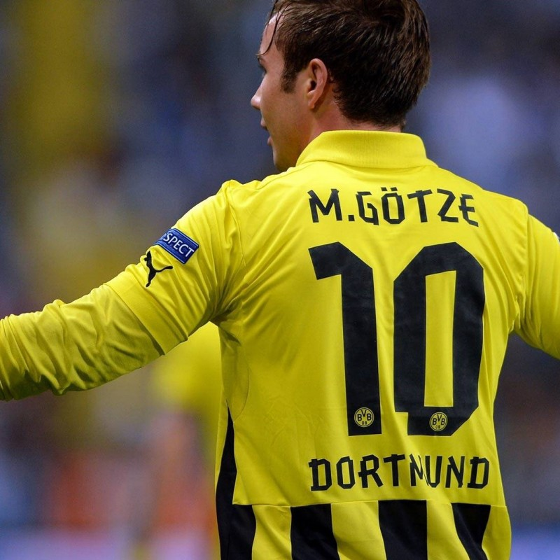 Gotze's issued shirt, 2013 Champions League Final, Bayern Munich-Borussia Dortmund