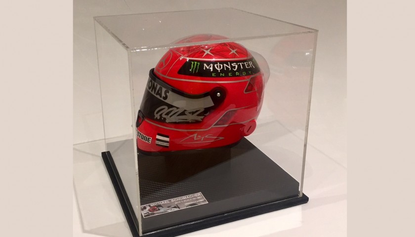 Michael Schumacher S Mercedes Signed Replica Helmet Charitystars