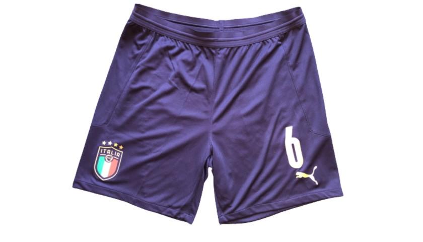 Tonali's Match Shorts, Armenia-Italy 2019