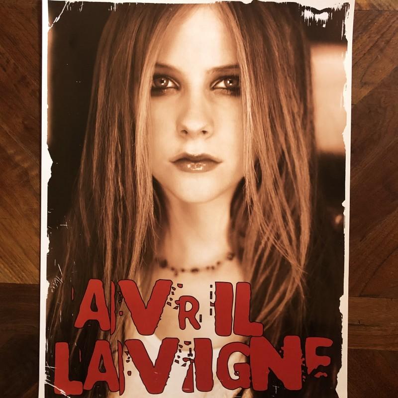 """Avril's """"Bonez Tour"""" Hand Signed Vintage Poster 2"""