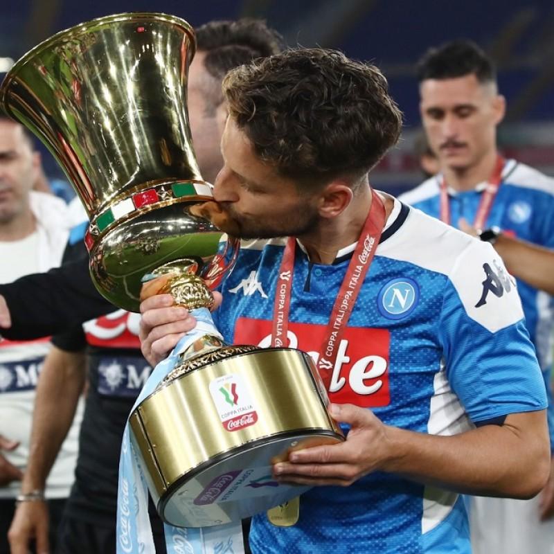 Mertens' Napoli Match-Issued Signed Shirt, Coppa Italia 2020