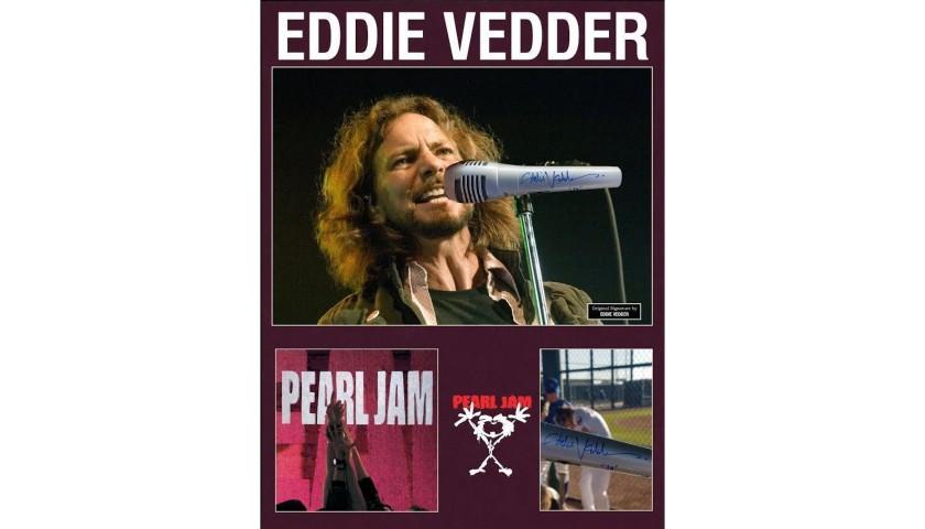 Eddie Vedder Hand Signed Microphone
