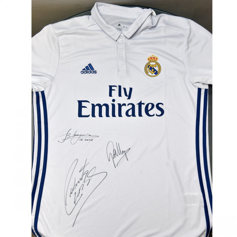 Signed shirt Carlos, Butragueño and Gallego from LFC Legends v Real Madrid