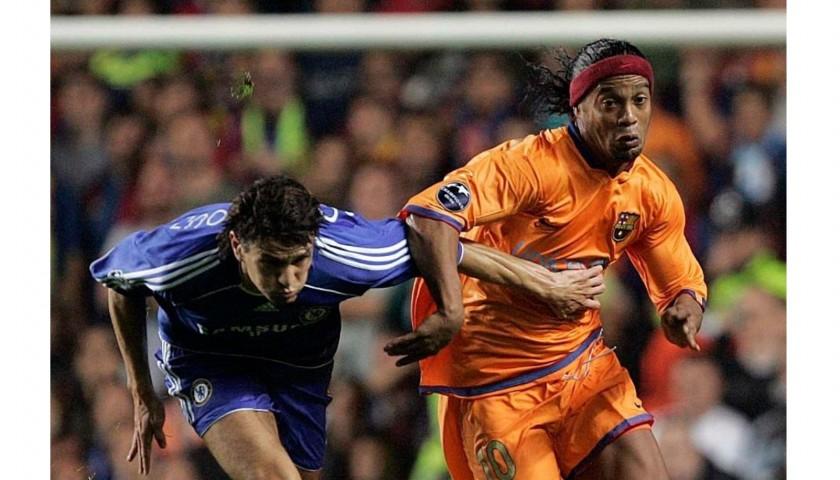 Ronaldinho S Official Barcelona Signed Shirt 2006 07 Charitystars