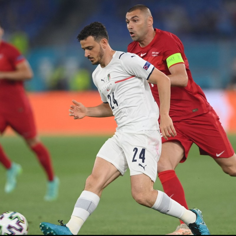 Florenzi's Match Shirt, Turkey-Italy 2021