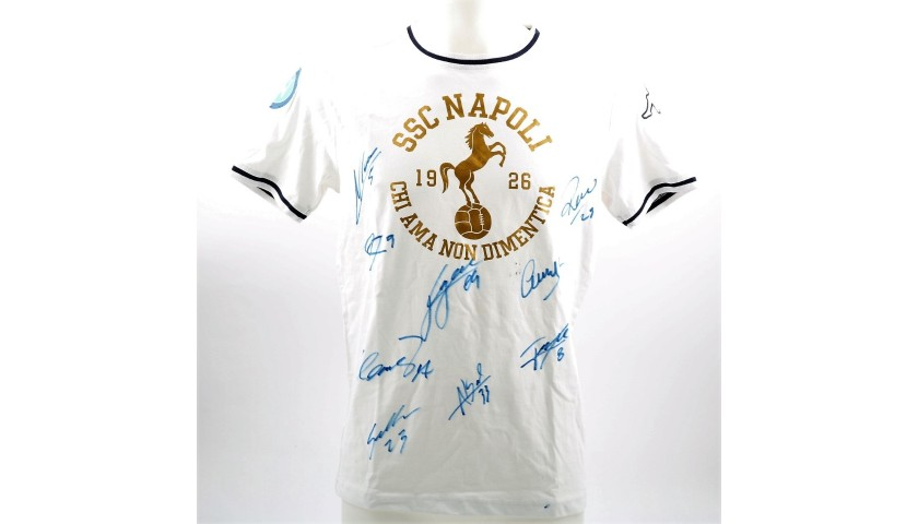 Auction Official SSC Napoli 2015 16 T-Shirt - Signed by the Players 5491183dfa931