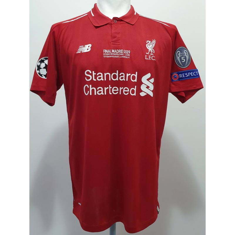 Salah's Official Signed Shirt, Tottenham-Liverpool 2019