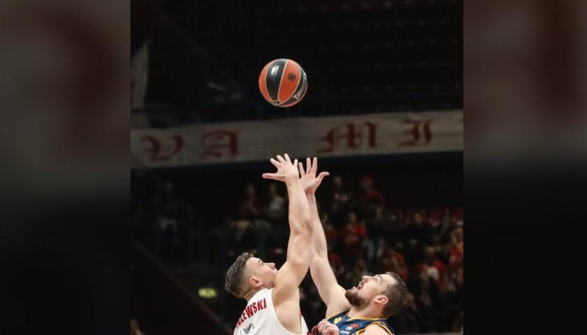 Throw the Ball that Starts the Olimpia Milano EuroLeague Game