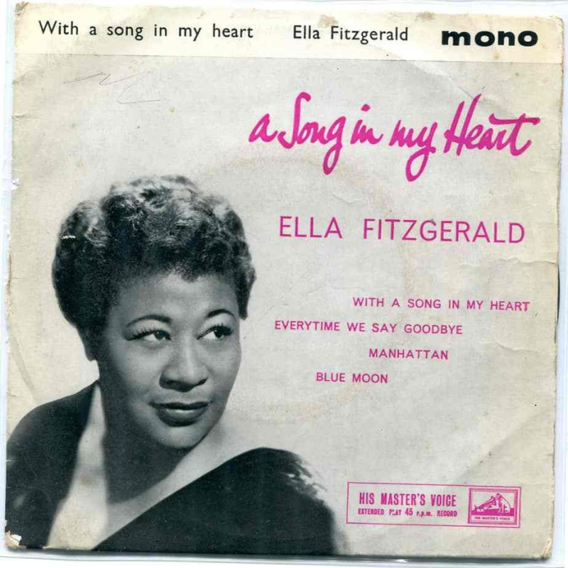 """""""With A Song In My Heart"""" Vinyl Album - Ella Fitzgerald, 1959"""