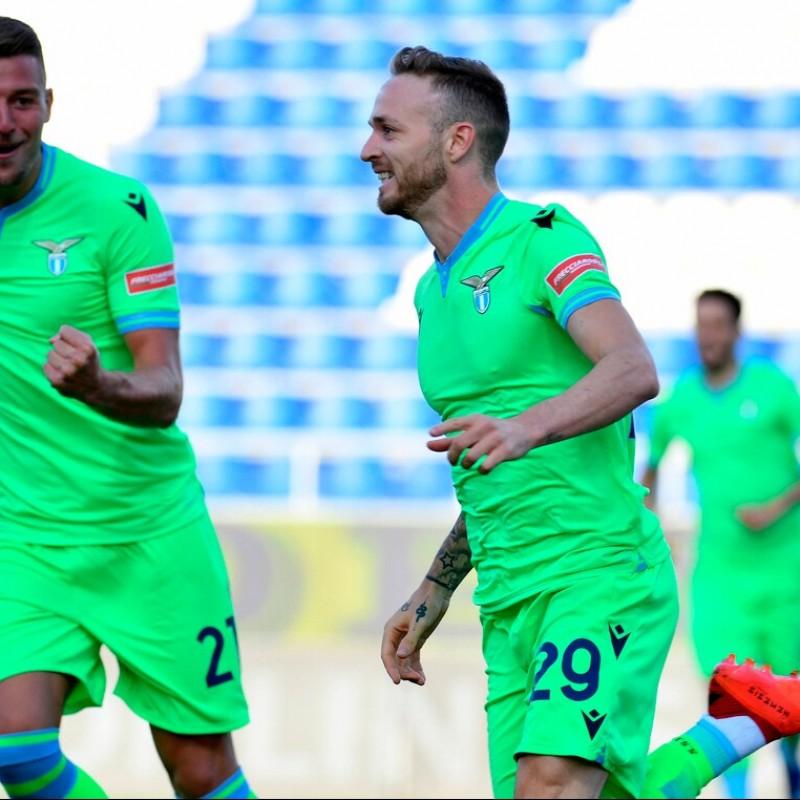 Lazzari's Lazio Worn and Unwashed Shorts, 2020/21