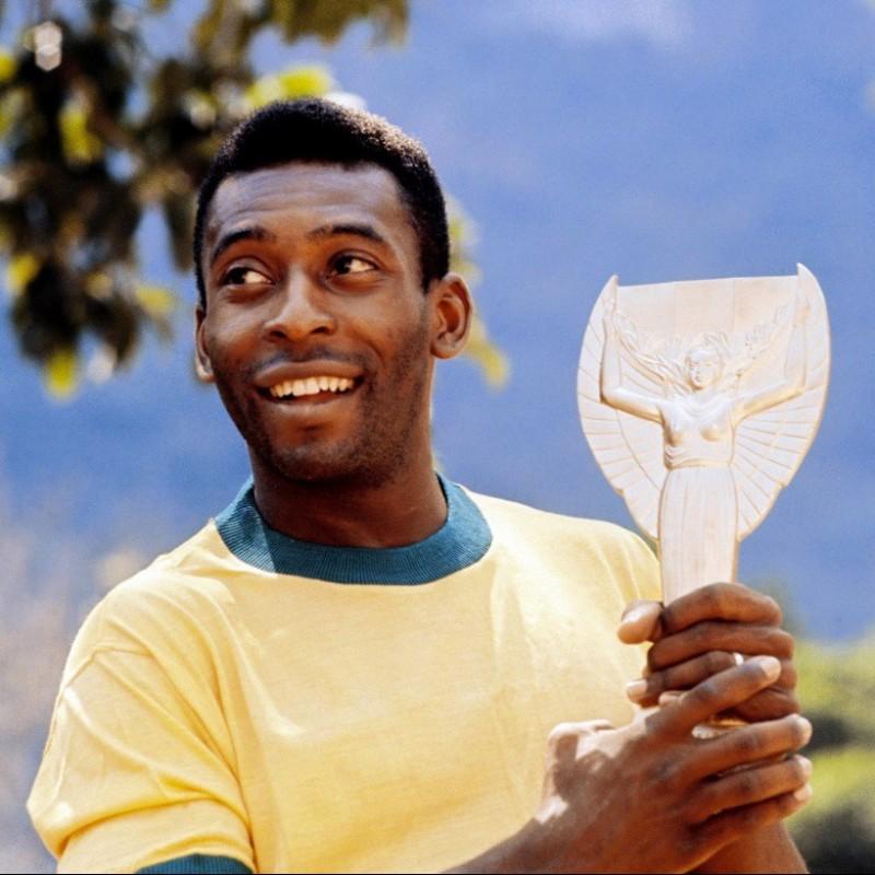 1970 Pelé Brazil Shirt, Signed