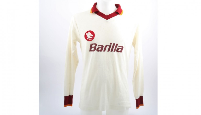 Falcao's Match-Worn 1982/83 Season Roma Shirt