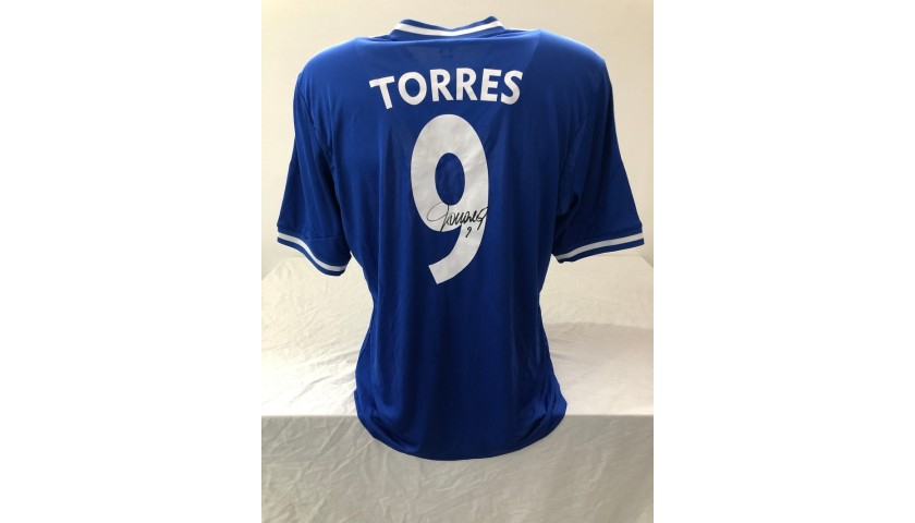 Torres' Official Chelsea Signed Shirt, 2013/14