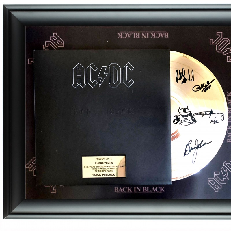 AC/DC Custom Framed Gold Record Display