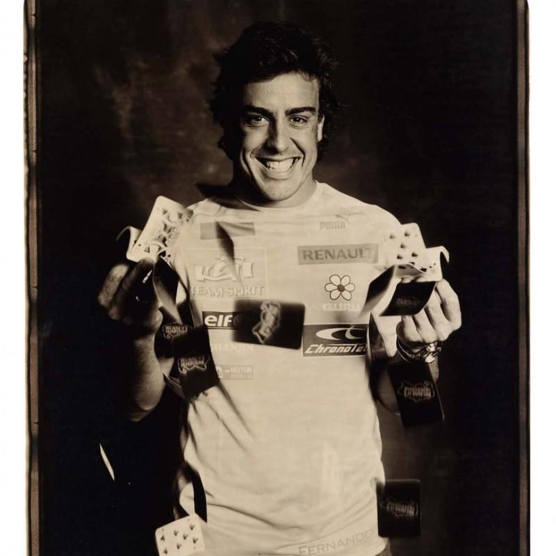 Rare 3x World Champion Fernando Alonso Giant Polaroid Signed Print