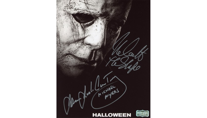 James Jude Courtney and Nick Castle Signed Halloween Photo
