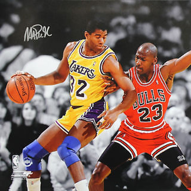 Magic Johnson Hand Signed Photograph