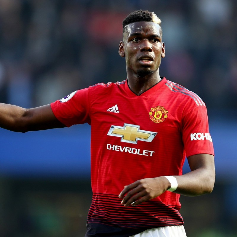 Pogba's Match-Issued/Worn Manchester United Shirt, 2018/19 PL