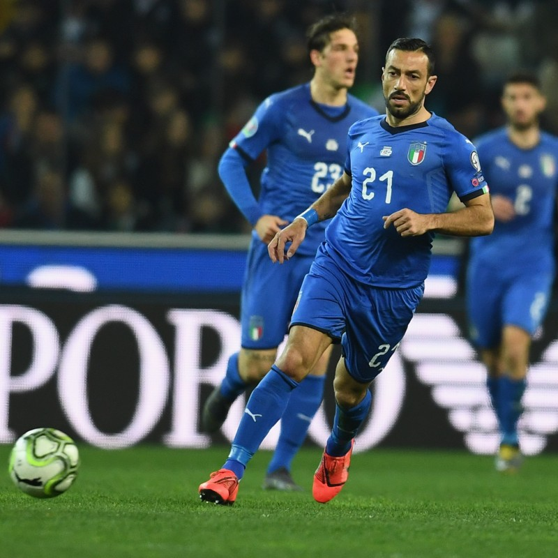 Quagliarella's Match Shirt, Italy-Bosnia 2019