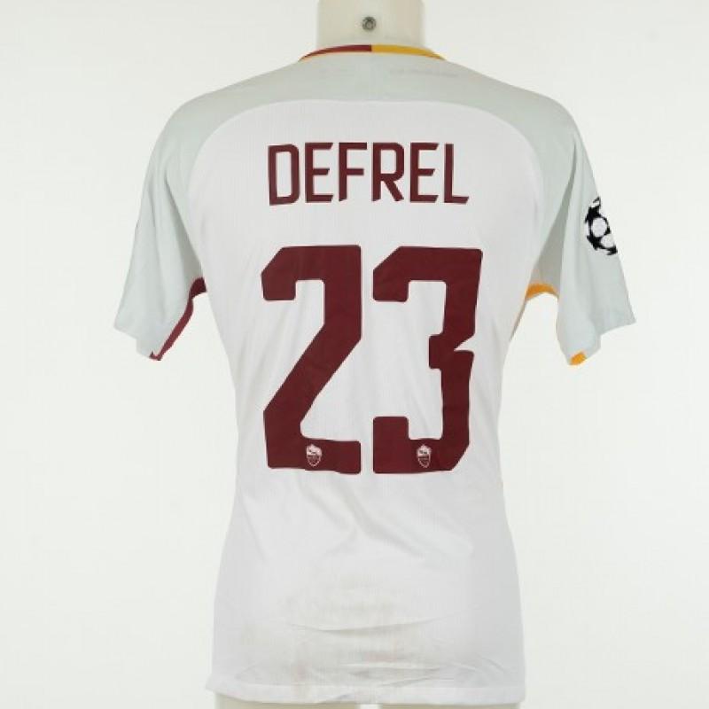 Defrel match-worn shirt Qarabag-Roma