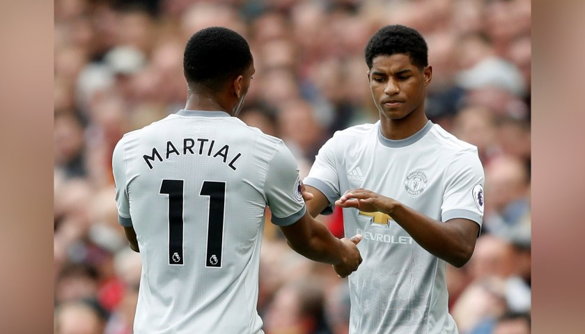 Rashford's Match-Issue/Worn Manchester United Shirt, PL 2017/18
