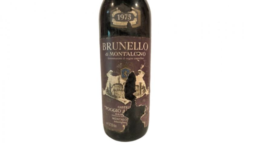 Bottle of Brunello di Montalcino, 1975 - Castello Poggio alle Mura