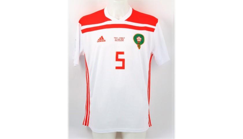 buy popular 9986b 97044 Benatia's Match Shirt, Spain-Marocco - World Cup 2018 - CharityStars