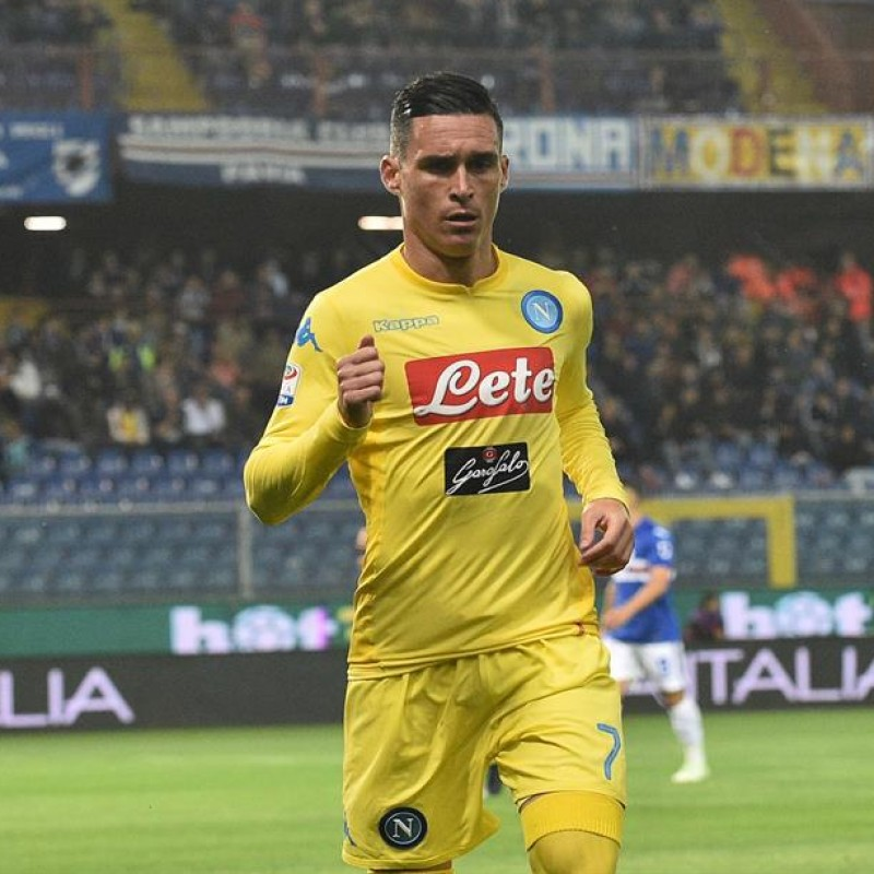 Callejon's Napoli Worn and Signed Shirt, 2017/18