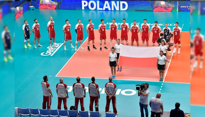 Official FIVB Volleyball Signed by the Polish National Volleyball Team