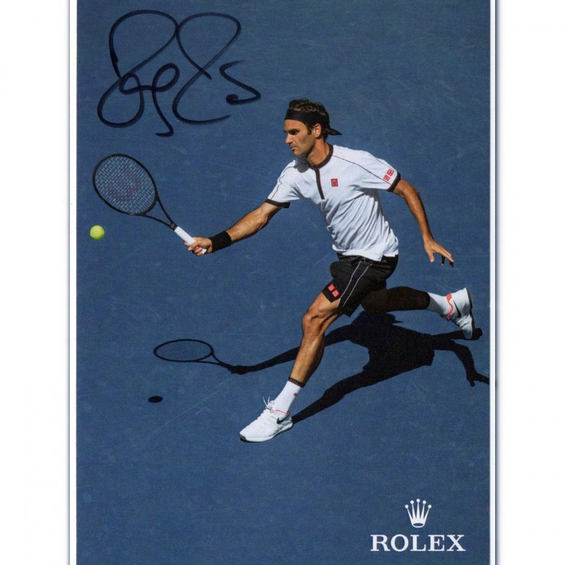 Roger Federer Official Signed Postcard