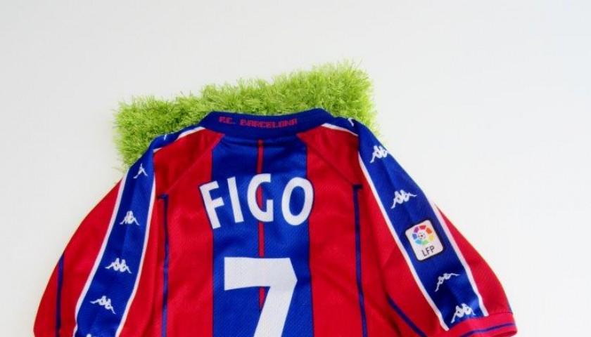 reputable site 0597c 2cfaf FIgo match issued/worn shirt, Barcelona, Liga Espanola 1998/1999 -  CharityStars