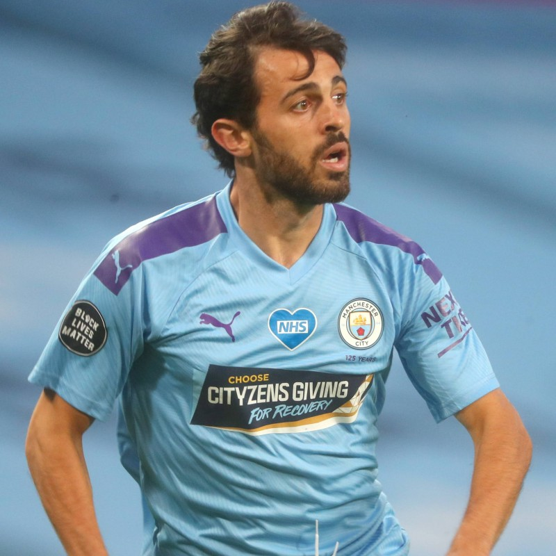 Cityzens Giving for Recovery Match Issued Shirt Signed by Bernardo Silva