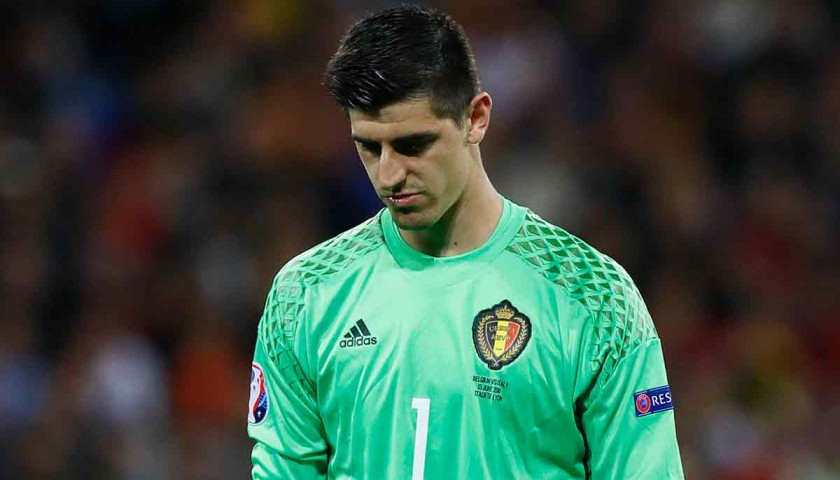 f6f381f7fa0 Courtois  Issued Belgium-Italy Shirt