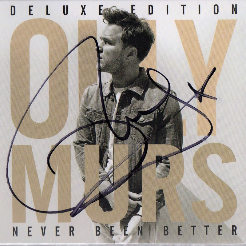 """Never Been Better"" Album Signed by Olly Murs"
