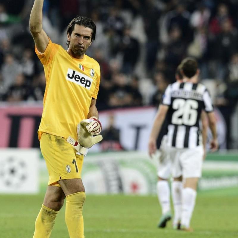 Buffon's Juventus Signed Match Shirt, UCL 2013/14