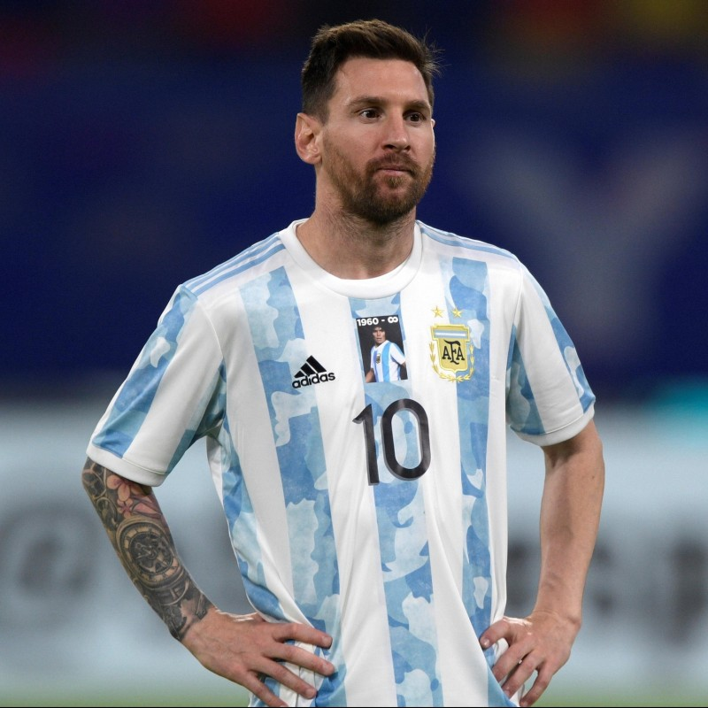 Official Argentina Commemorative Maradona Shirt, 2020 - Signed by Messi