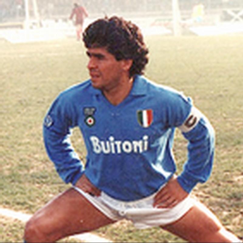 Diego Armando Maradona's Napoli Match-Issued Signed Shirt, 1987/88 Friendly