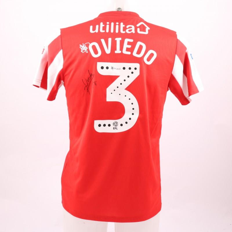 Oviedo's Sunderland AFC Worn and Signed Poppy Shirt