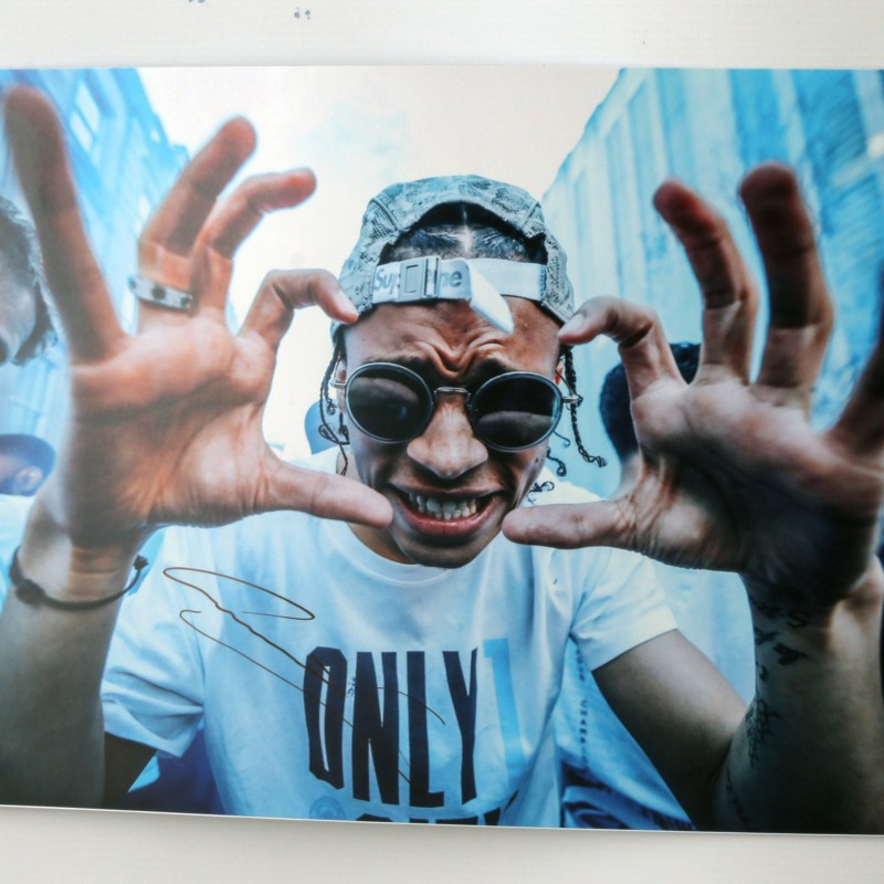 Champions Parade Leroy Sane 'Say Cheese' Signed Photo