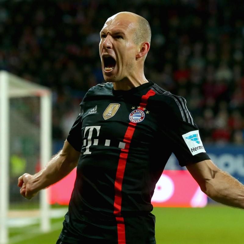 Robben's Official Bayern Munich Signed Shirt, 2014/15
