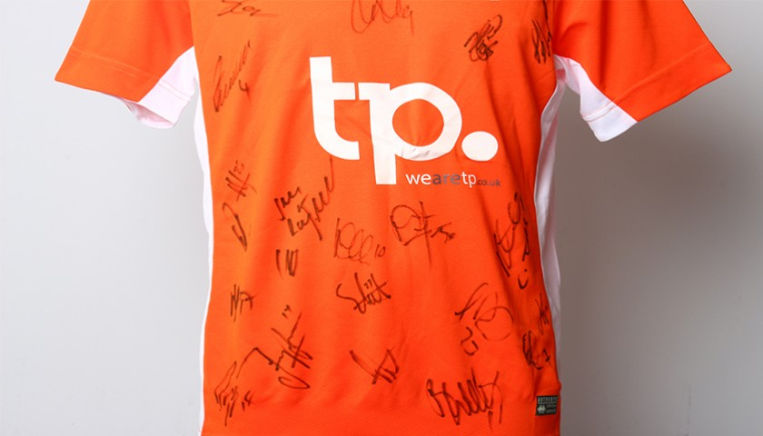 Poppy Shirt Signed by Blackpool F.C.