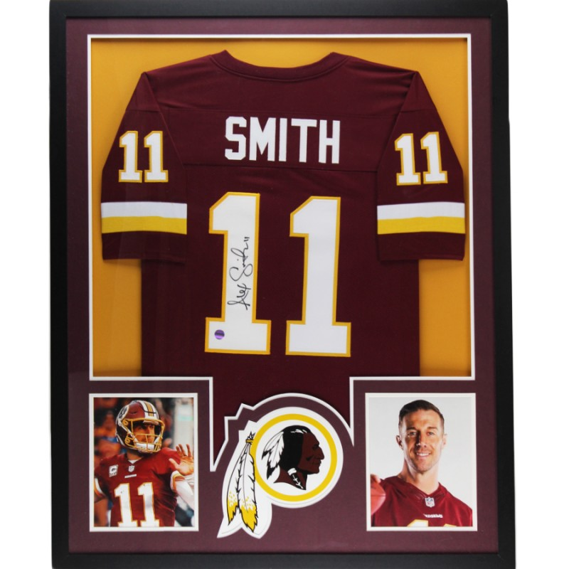 Alex Smith Signed Washington Large Framed Custom Maroon Jersey