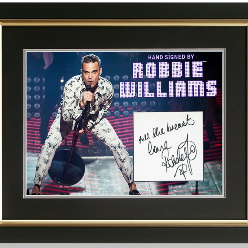 Robbie Williams Hand Signed Presentation